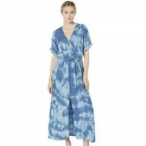 Karen Kane Short Sleeve Tie Dye Maxi Dress Sz sm